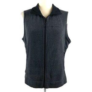 Columbia Gray Fleece Zipper Vest